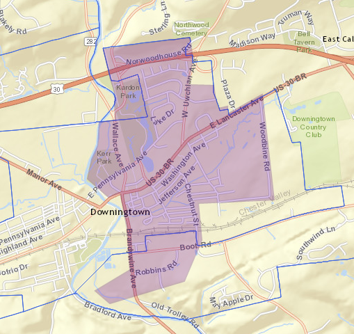 Mosquito control treatment scheduled for Downingtown Borough ... on map of west chester municipality, map west chester pa 19380, map of lebanon, map of west bradford twp pa, map of new castle, map of virginia and pennsylvania, map of west chester pa, map of west goshen, map of harrisburg, map of west chester area,
